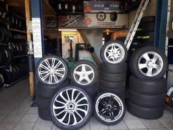 Assortment of various second hand alloys by Deals on Tyres Ltd.